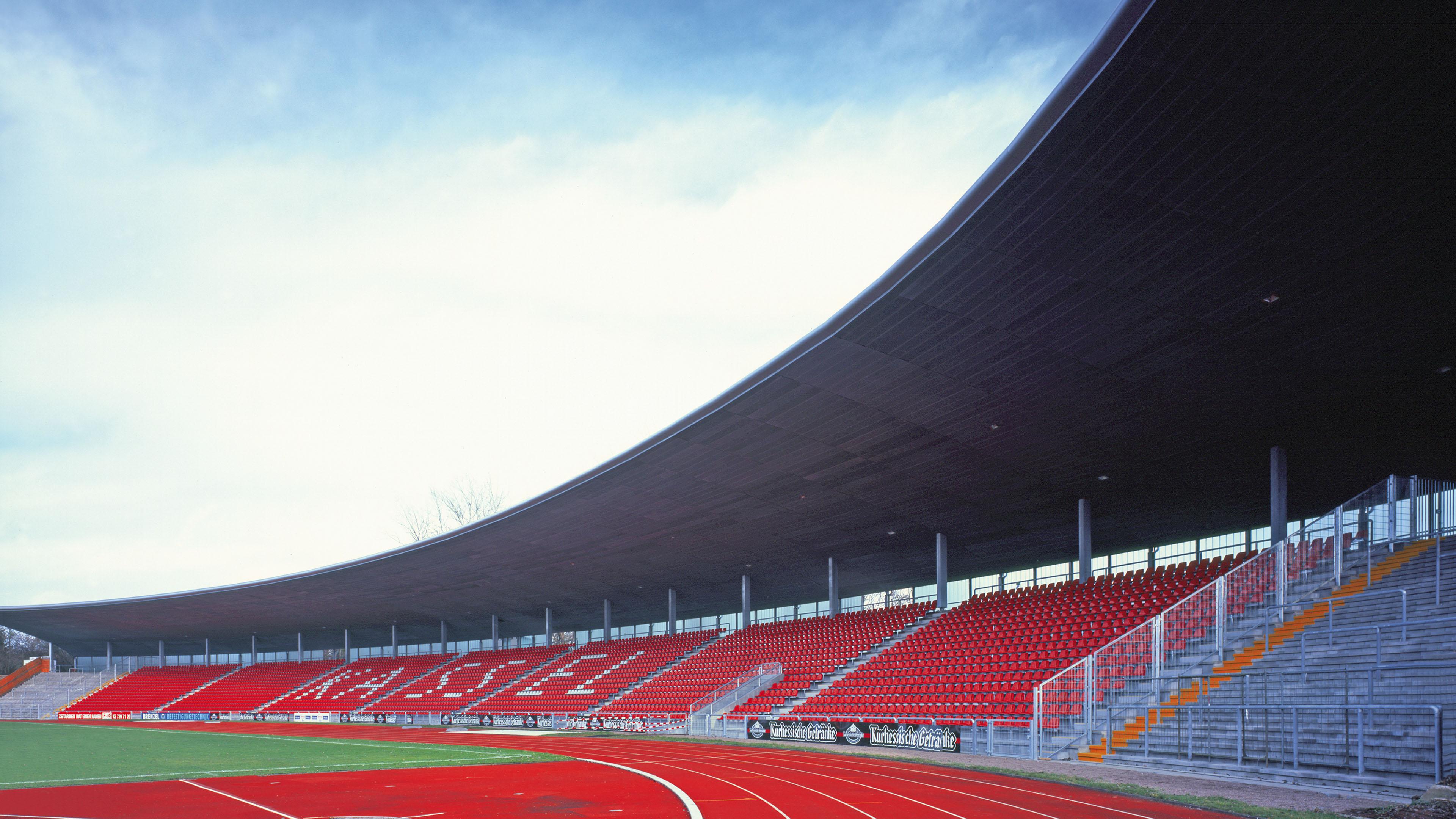 Auestadion Kassel Tribünendach Tribüne Stadion