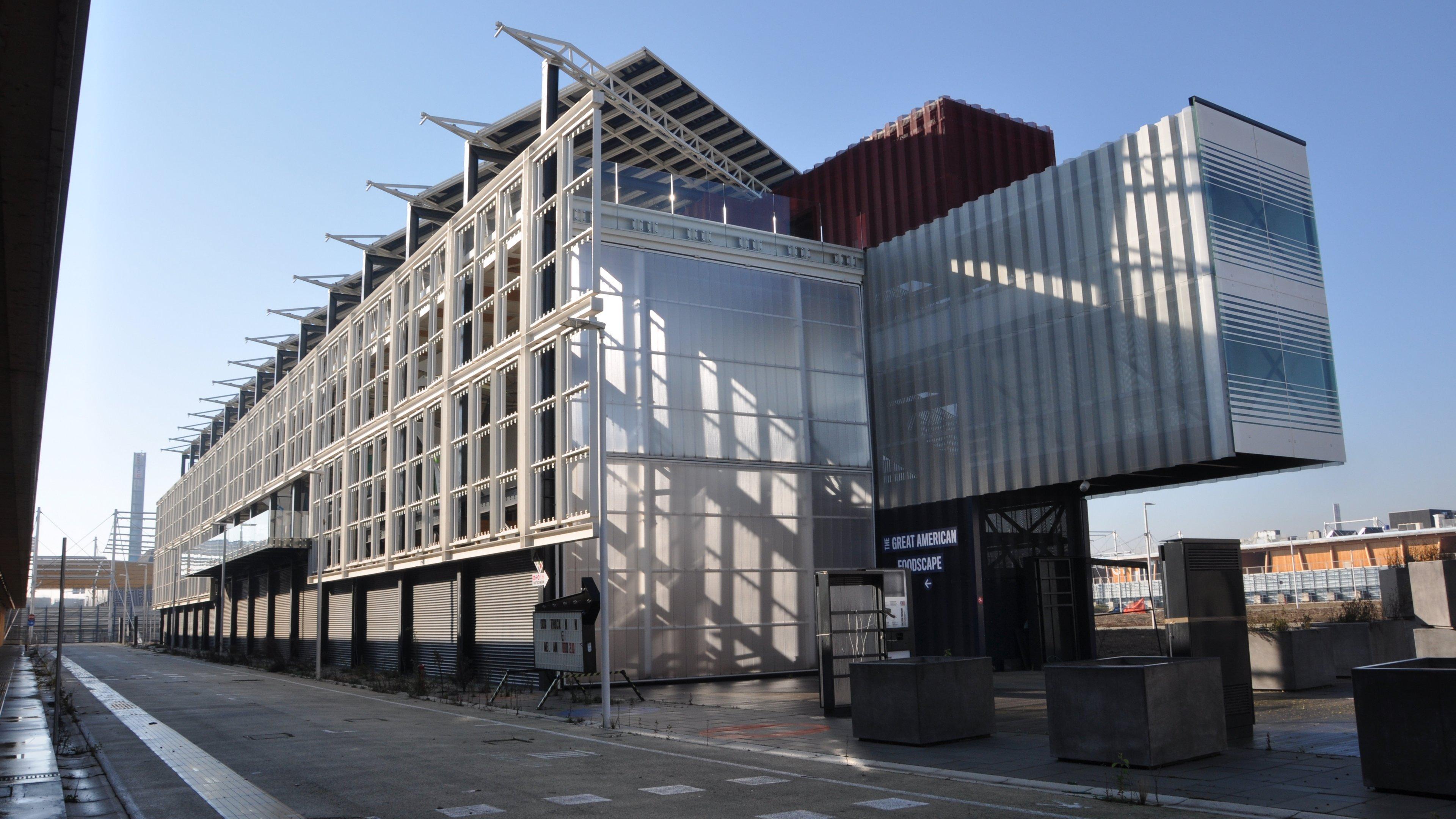 USA-Pavillon zur Expor 2015 in Mailand. Dieser Pavillon wird in Hamburg als DigitalCampus wieder aufgebaut.