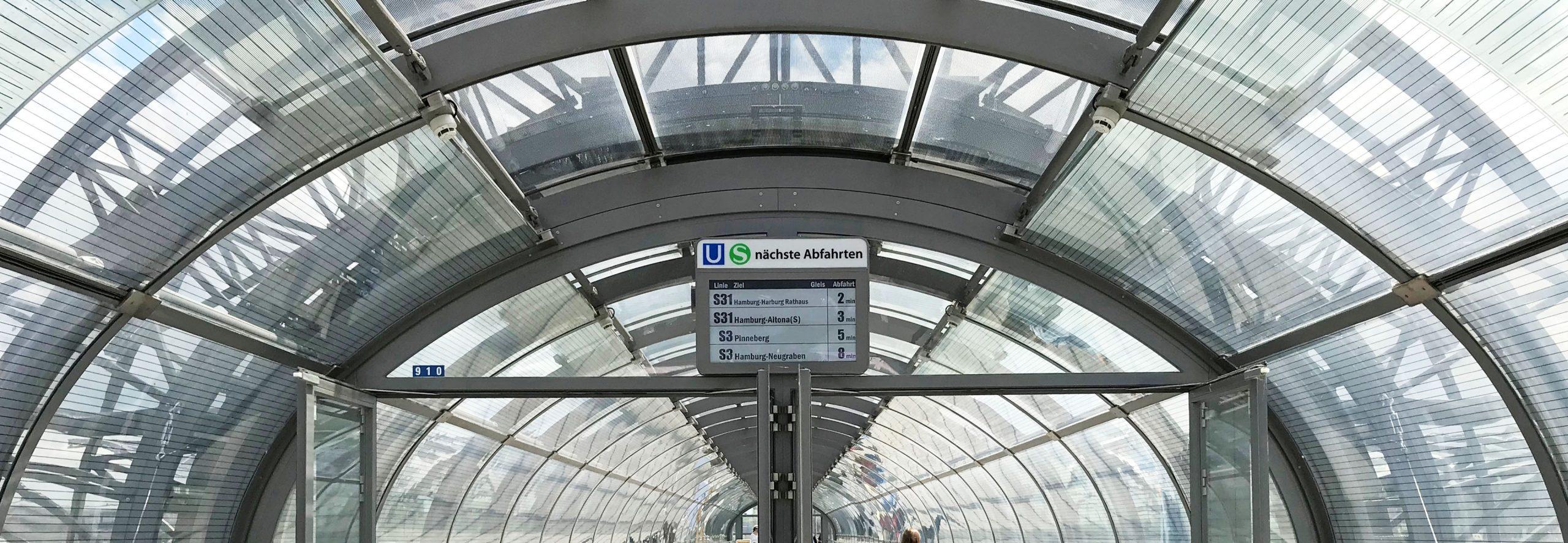 Heroslider Verbindungsbrücke Skywalk Hamburg Hochbahn Skylink