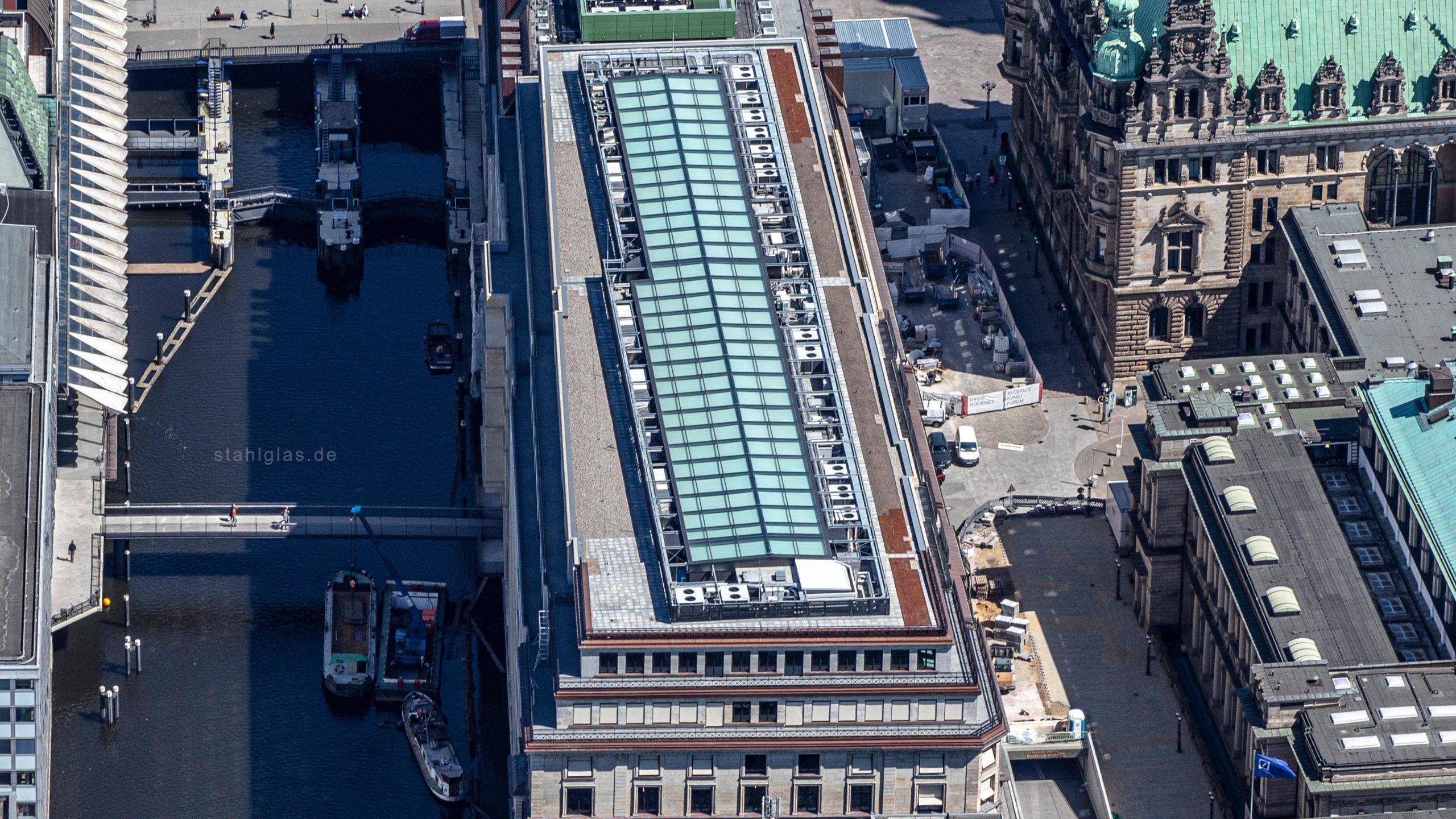 Luftaufnahme Hamburg Alter Wall Glasdach
