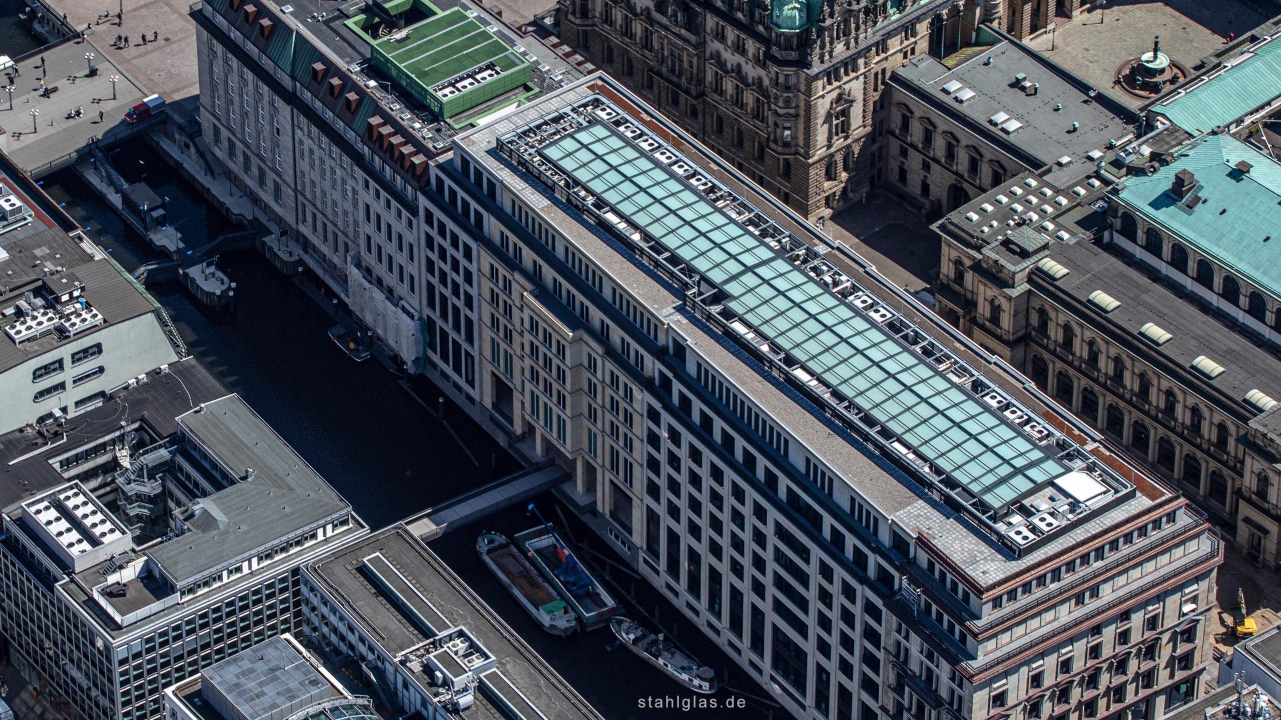 Glasdach Hamburg Alter Wall Luftaufnahme