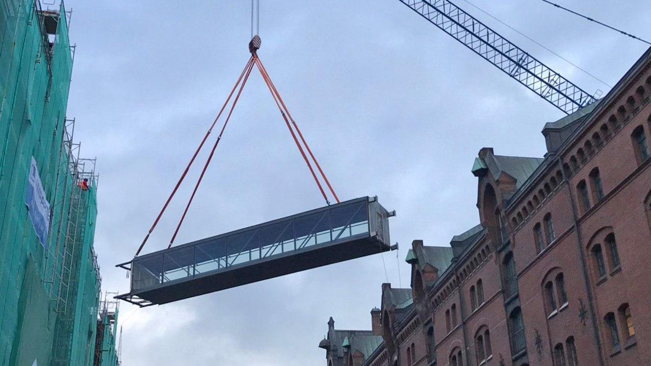 Verbindungsbrücke Miniatur Wunderland Hamburg