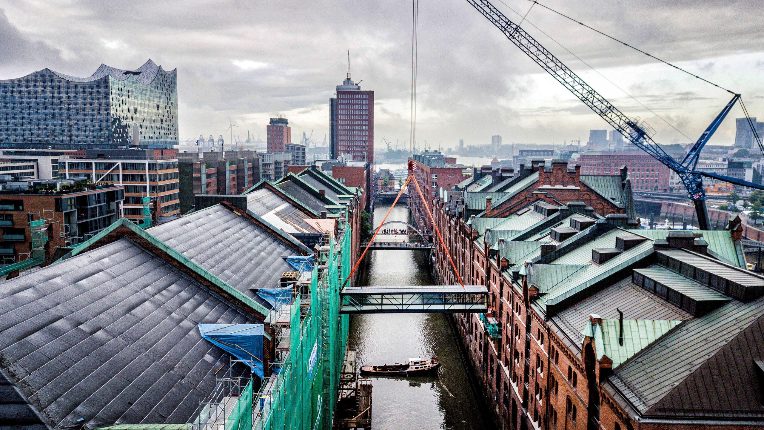 Miniatur Wunderland Einhub Brücke Hamburg Stahlbau Lamparter