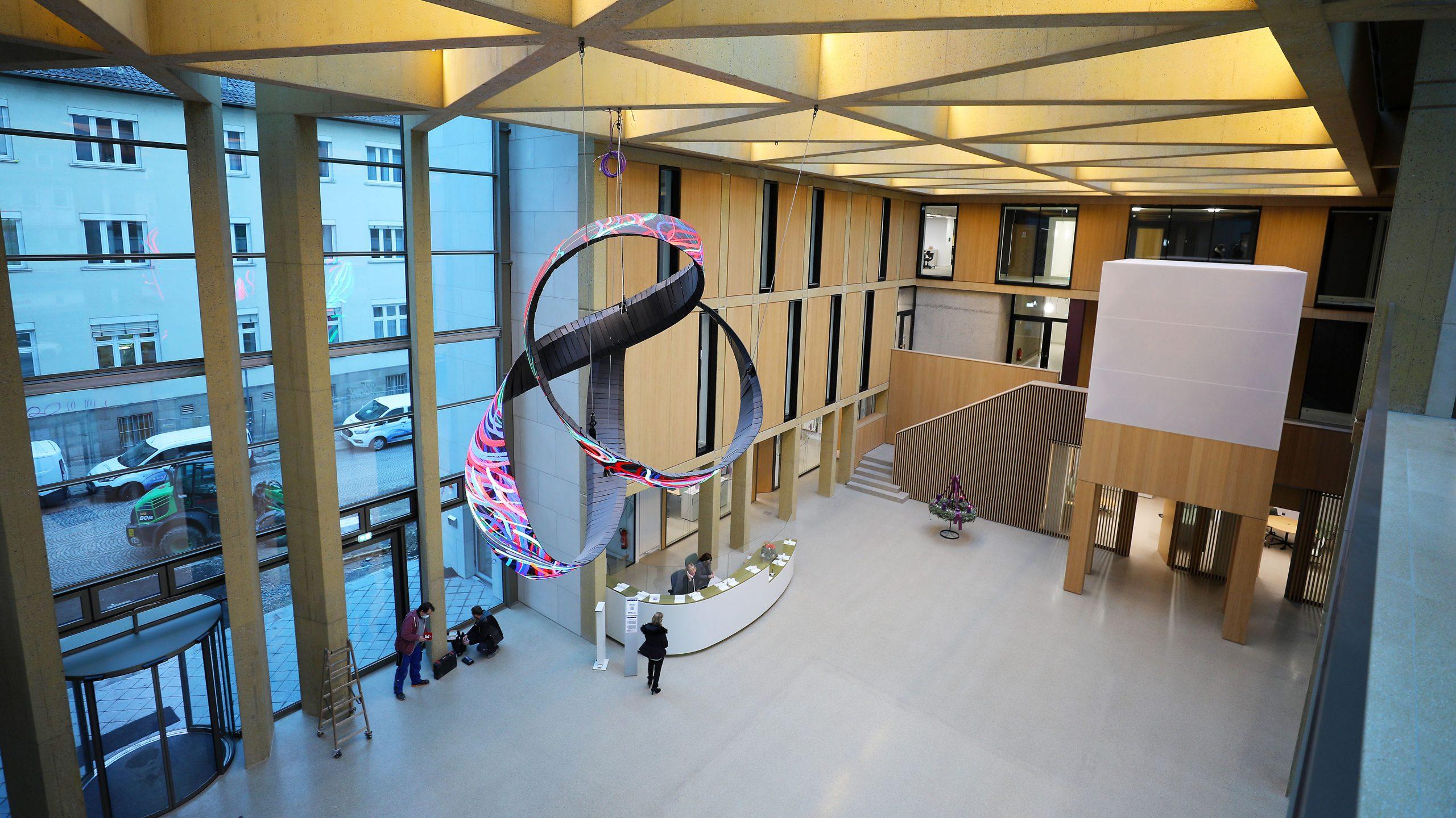 Eingangsbereich der Evangelischen Bank Kassel