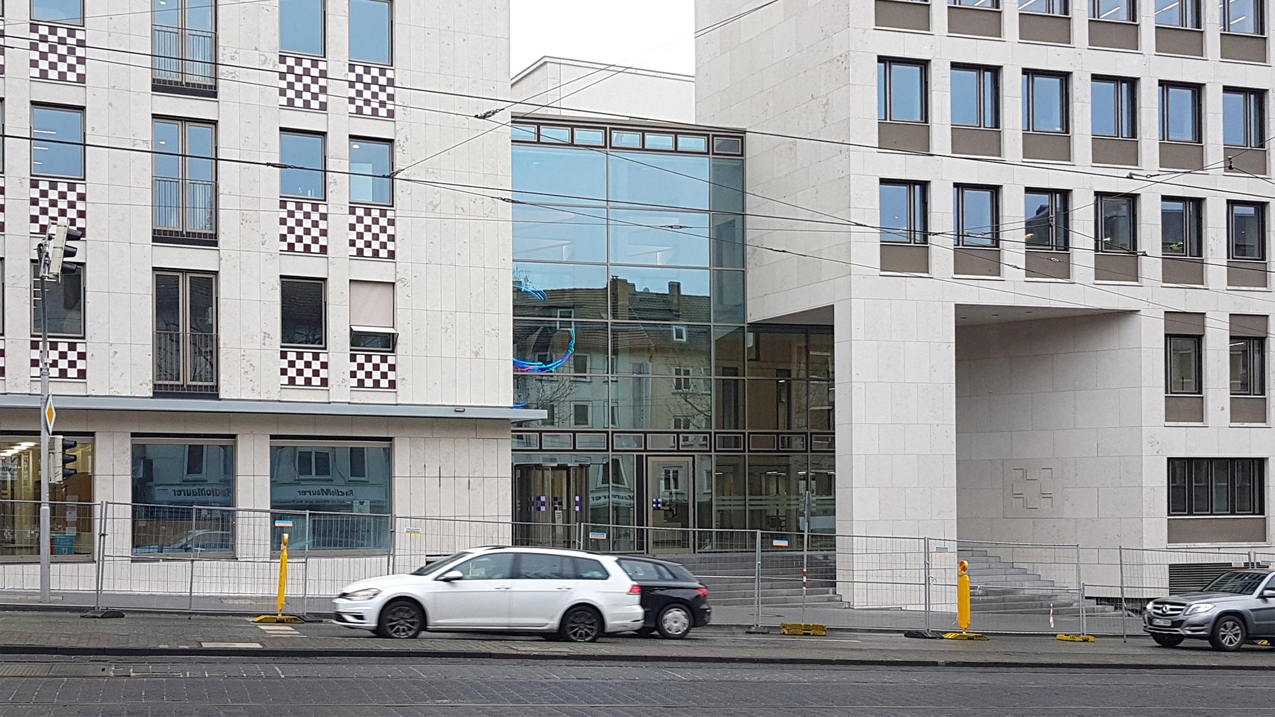 Glasfassade Evangelische Bank Kassel