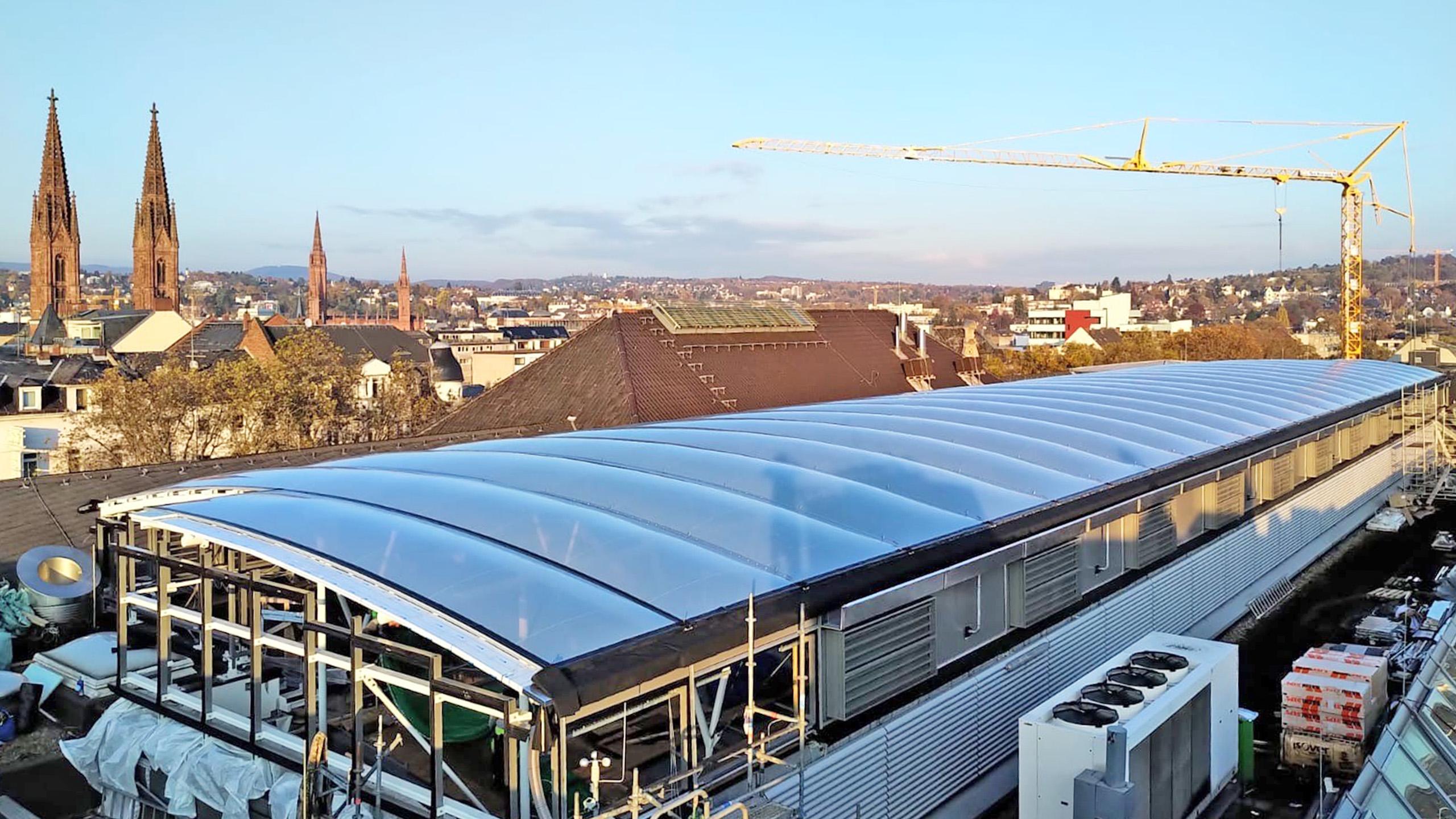 Foliendach NASPA Wiesbaden