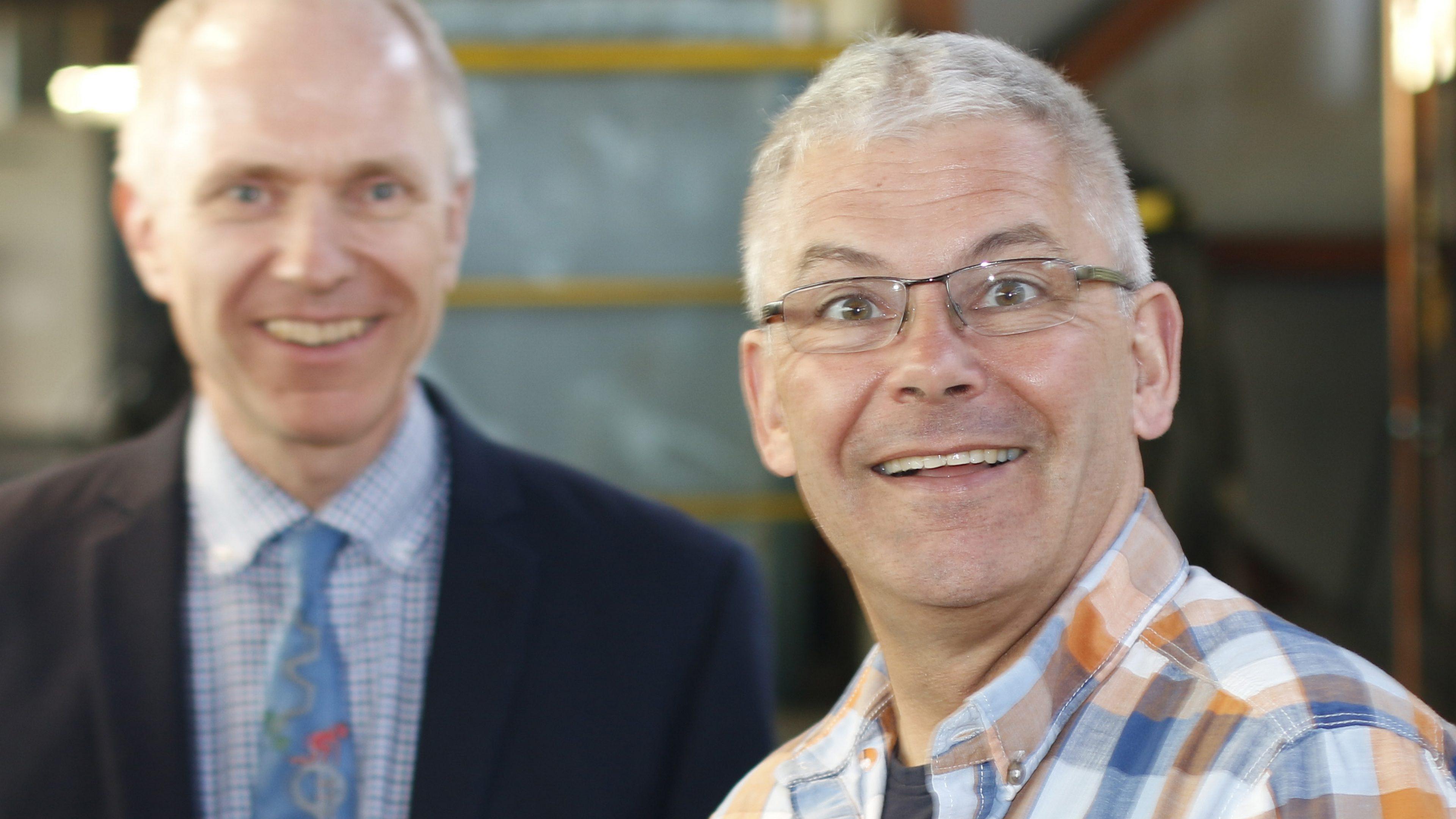 Herr Asbrand, Leiter der Produktion Stahlbau bei Lamparter GmbH & Co. KG.