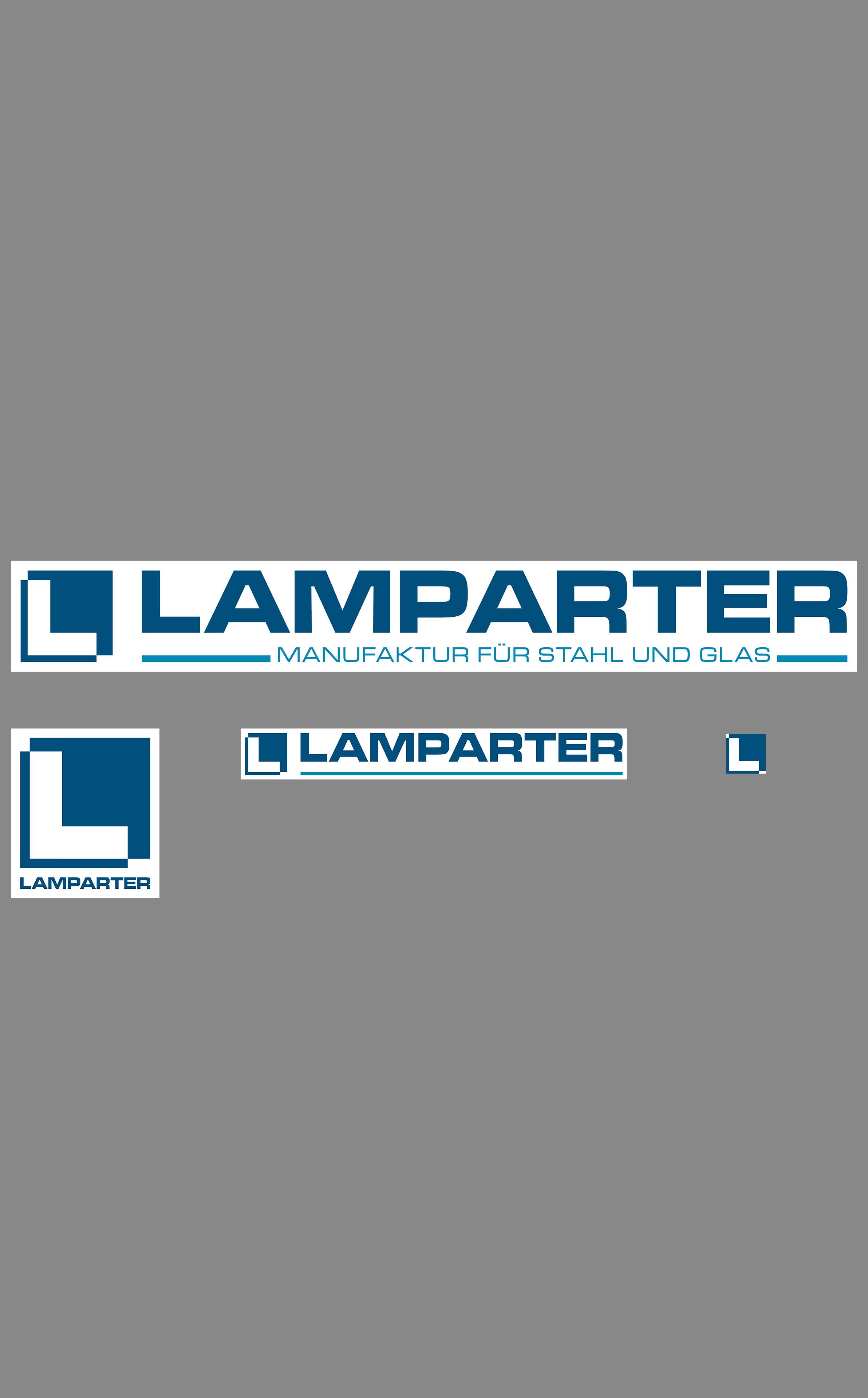Neue Logos der Firma Heinrich Lamparter Stahlbau GmbH & Co. KG Kassel Kaufungen. Stand September 2017.