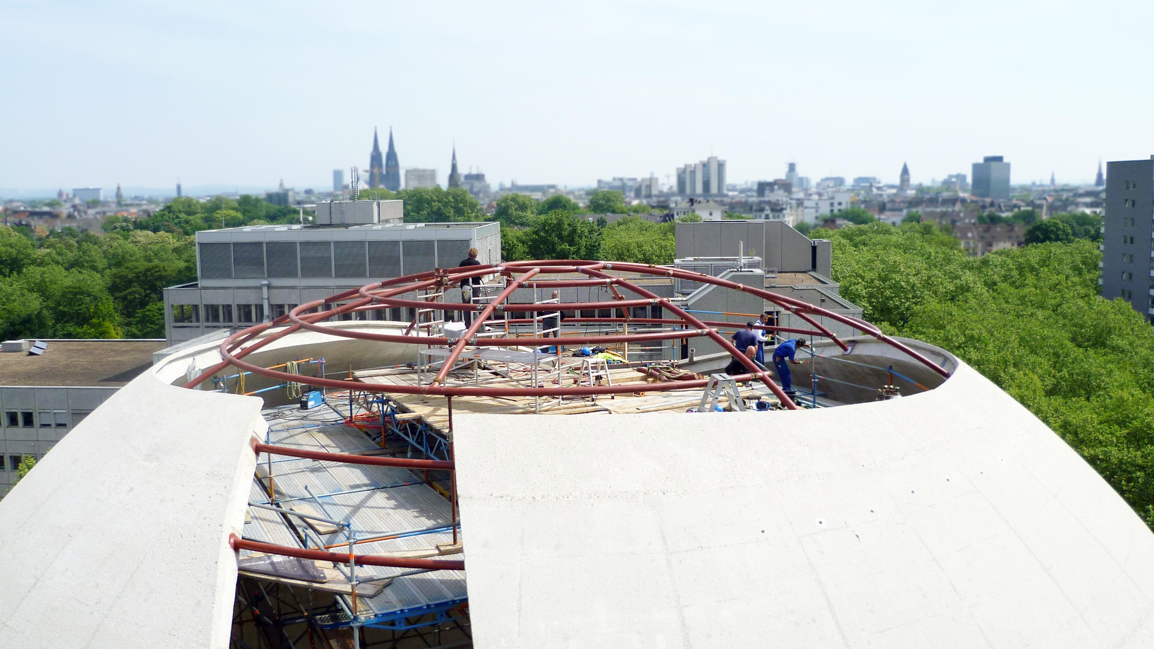 Zentralmoschee Köln - Merkez-Camii - Stahlbau Montage