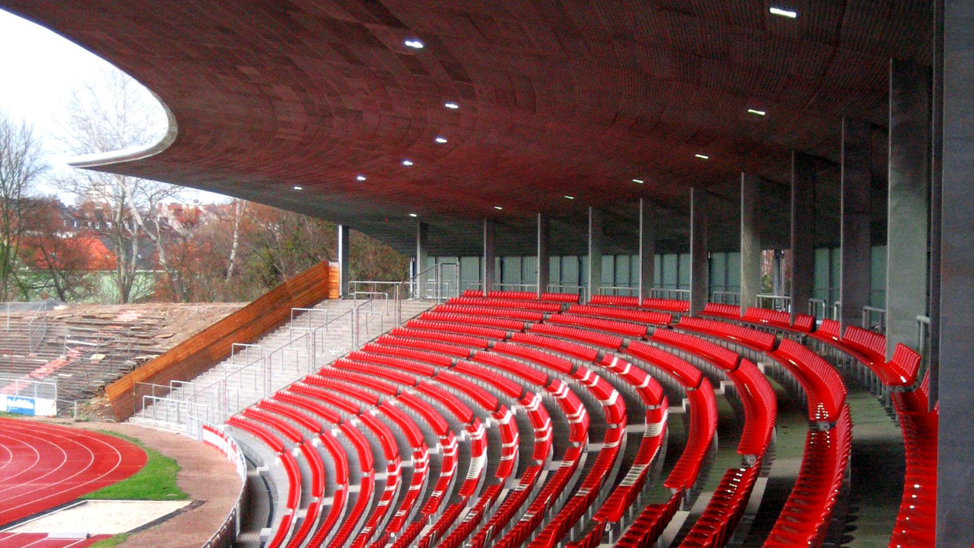Lamparter Kassel Auestadion Stadion Kassel Osttribüne Stahlbau