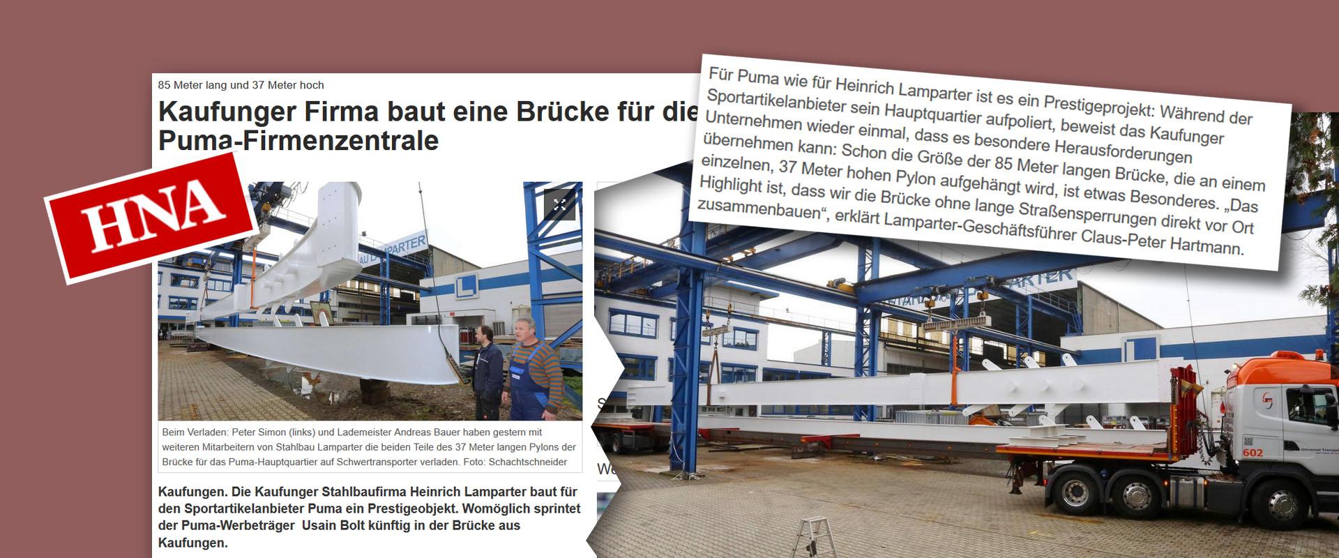 HNA Hessisch Niedersächsische Allgemeine Stahlbau Lamparter
