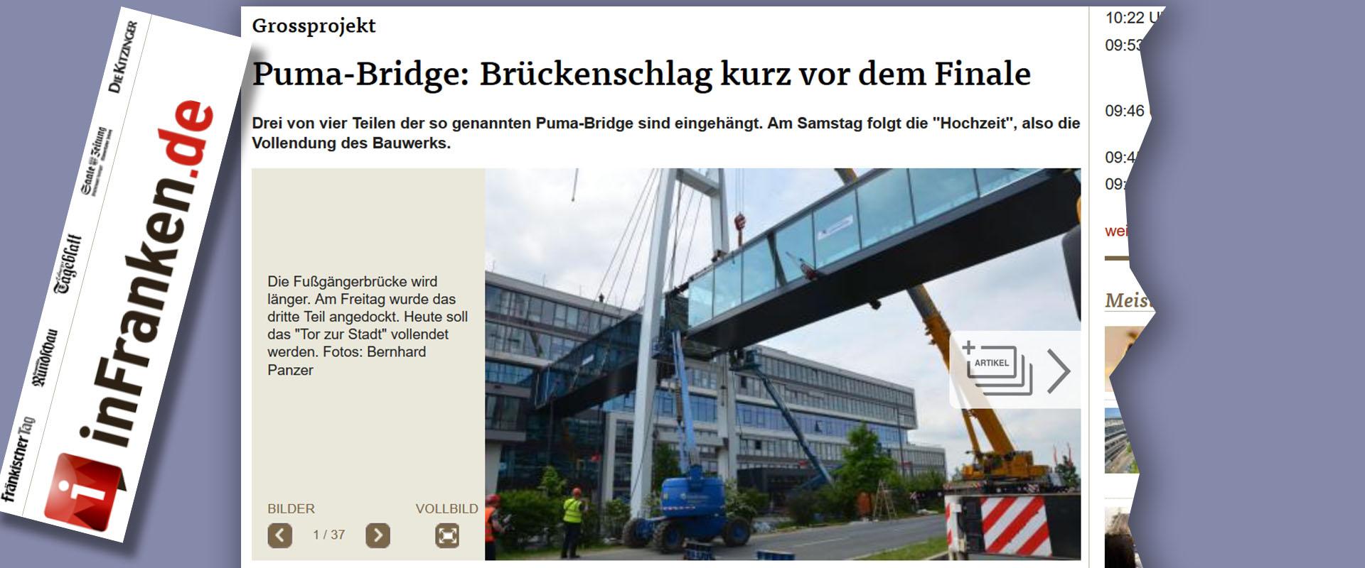 Zeitung Medien Internet Nachrichten über Stahlbau Lamparter Verbindungsbrücke