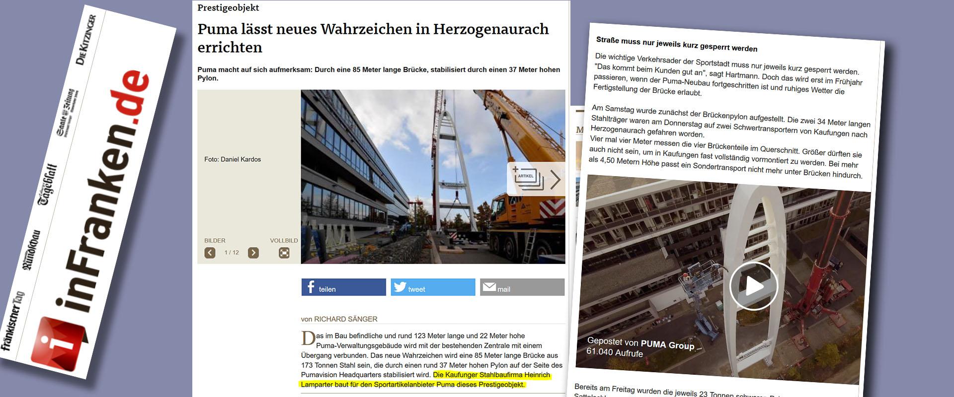 Zeitung über Stahlbau Lamparter
